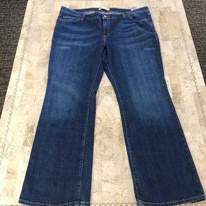 Levi's jeans bootcut plus size 20W